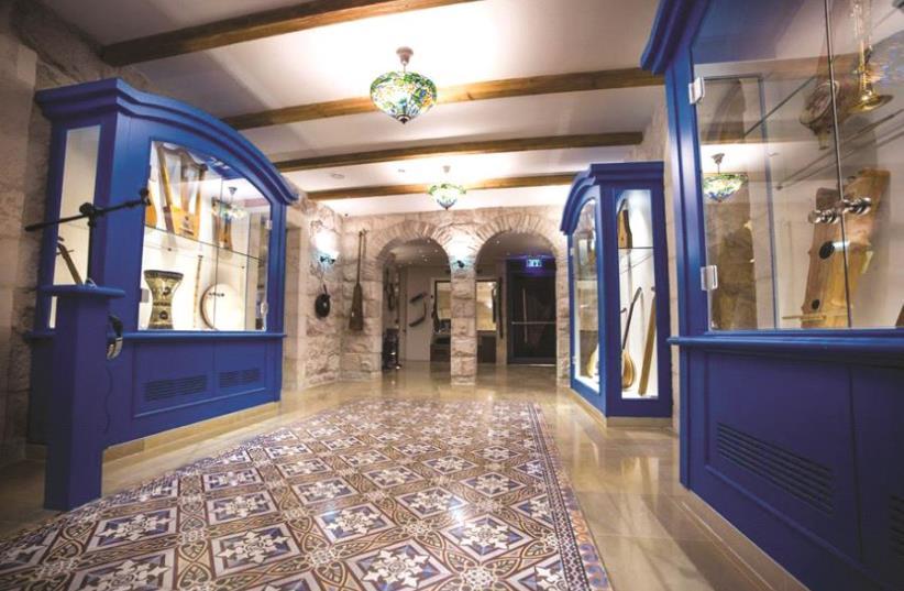 Une des salles d'exposition du musée de la Musique hébraïque (photo credit: HEBREW MUSIC MUSEUM)