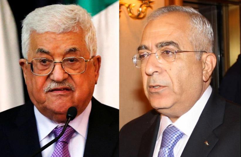 Abbas and Fayyad (photo credit: WIKIMEDIA,REUTERS)