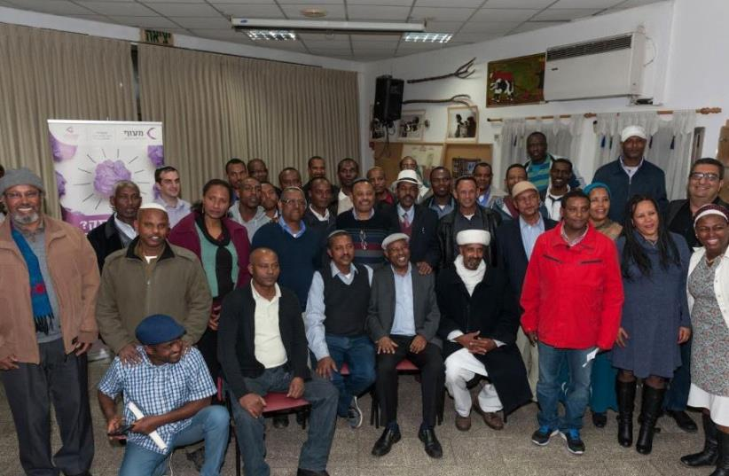 Addis Alam's founders marked the end of the agriculture course in Ramle (photo credit: YOAV NIR / STUDIOAB)