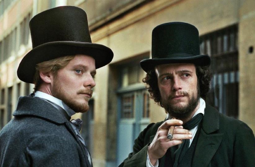 STEFAN KONARSKE (left) and August Diehl star in Raoul Peck's 'Young Karl Marx.'  (photo credit: KRIS DEWITTE)