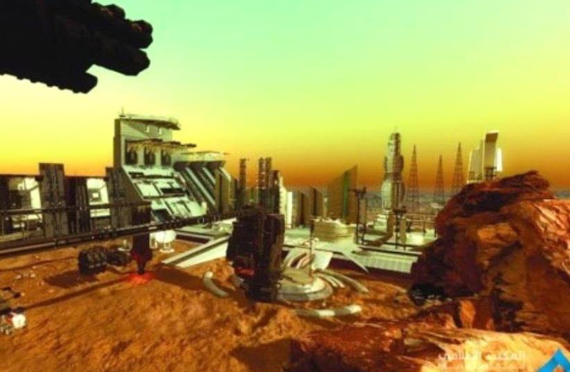 Presentation of the UAE project 'Mars 2117' (photo credit: TWITTER/DUBAI MEDIA OFFICE)