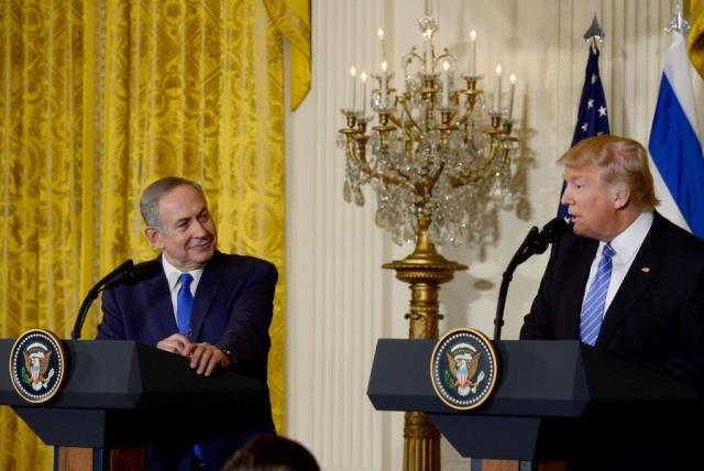 Prime Minister Netanyahu and President Trump (photo credit: AVI OHAYON - GPO)