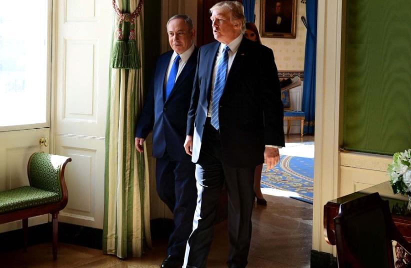 PM Netanyahu and President Trump (photo credit: AVI OHAYON - GPO)
