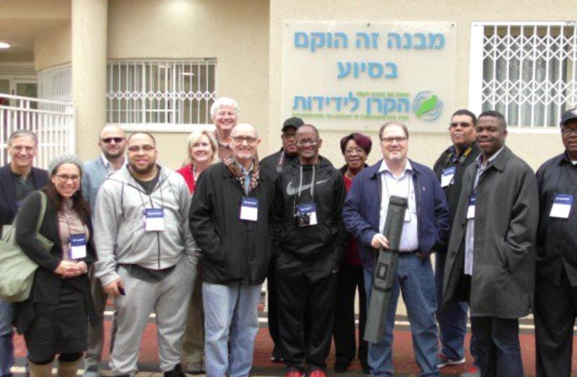 The Baptist leaders at the IFCJ-supported Beit Gilboa orphanage. (photo credit: IFCJ)
