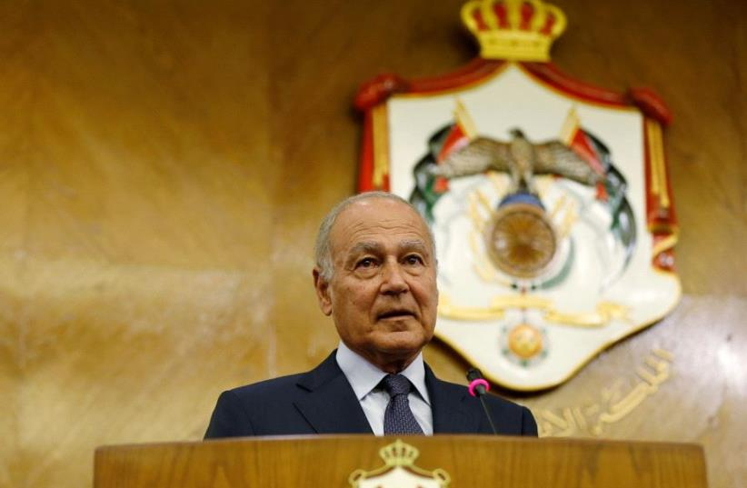 Secretary General of the Arab League Ahmed Aboul Gheit  (photo credit: REUTERS)