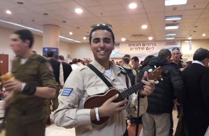 Ron Volkmar, a lone soldier in the IDF. (photo credit: TAMARA ZIEVE)
