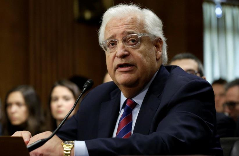 David Friedman testifies before a Senate Foreign Relations Committee hearing on his nomination to be U.S. ambassador to Israel, on Capitol Hill in Washington, US, February 16, 2017. (photo credit: REUTERS)