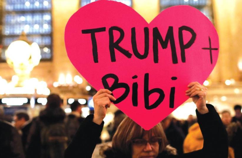 Trump and Bibi Netanyahu (photo credit: REUTERS)