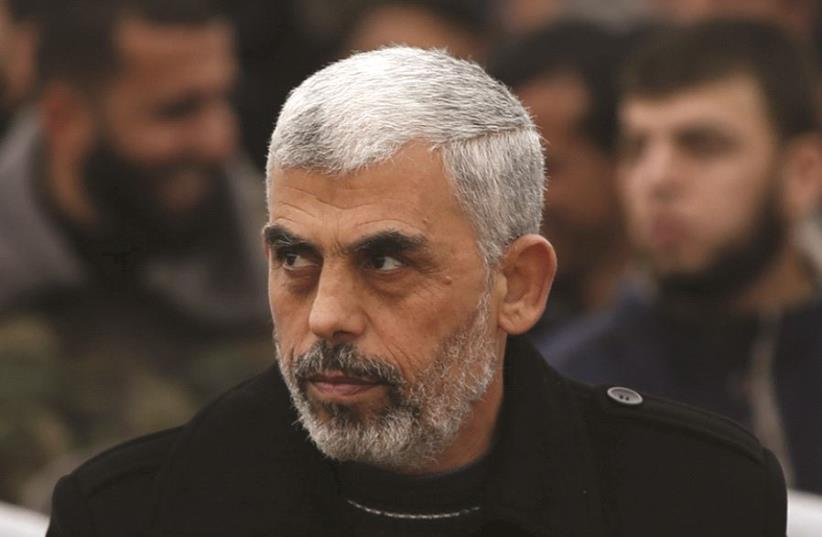 Le nouveau leader du Hamas, Yahya Sinwar (photo credit: REUTERS)