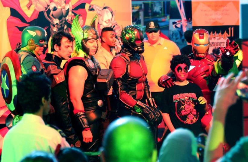 Spectators attend Comic Con expo in Jeddah, Saudi Arabia (photo credit: REUTERS)