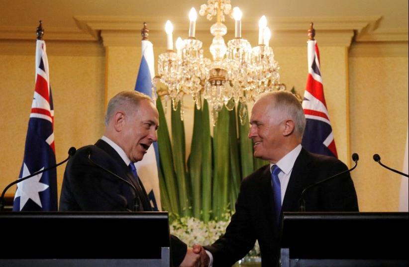 Prime Minister Benjamin Netanyahu and Australian Prime Minister Malcolm Turnbull. (photo credit: REUTERS)