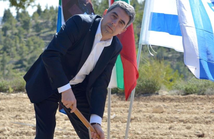 Former Bulgarian president plants a tree in Jerusalem (photo credit: JNF)