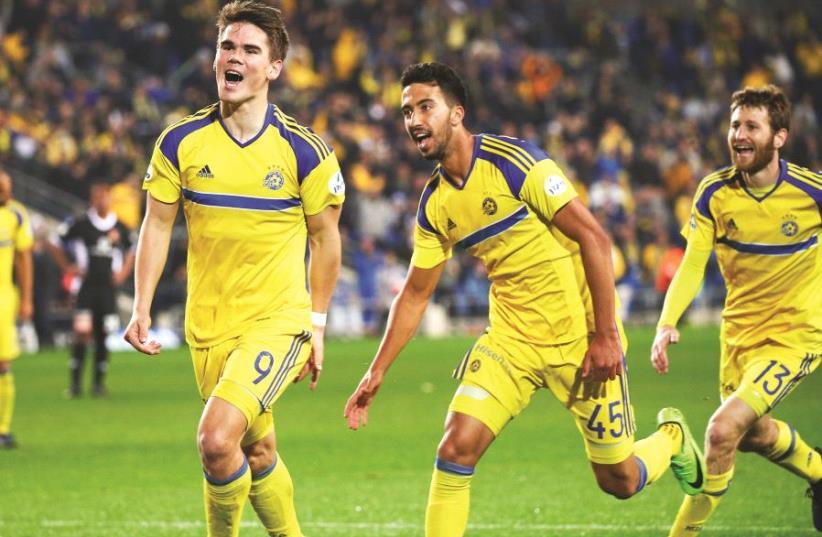 Maccabi Tel Aviv's Vidar Orn Kjartansson (photo credit: DANNY MARON)
