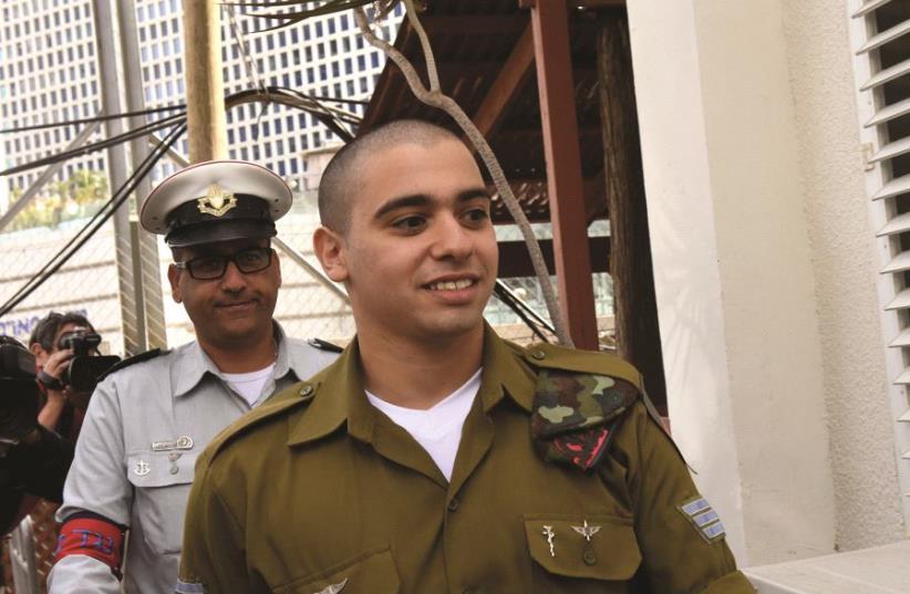 Le soldat Elor Azaria  (photo credit: REUTERS)