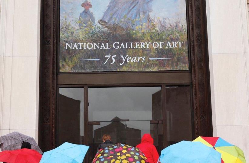 National gallery of art sign (illustrative) (photo credit: KEVIN LAMARQUE/REUTERS/TAKEN IN MAY 2016 WASHINGTON)