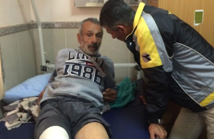 Hussein Kawareek, 54, at Rafidiya Hospital in Nablus (photo credit: ADAM RASGON)