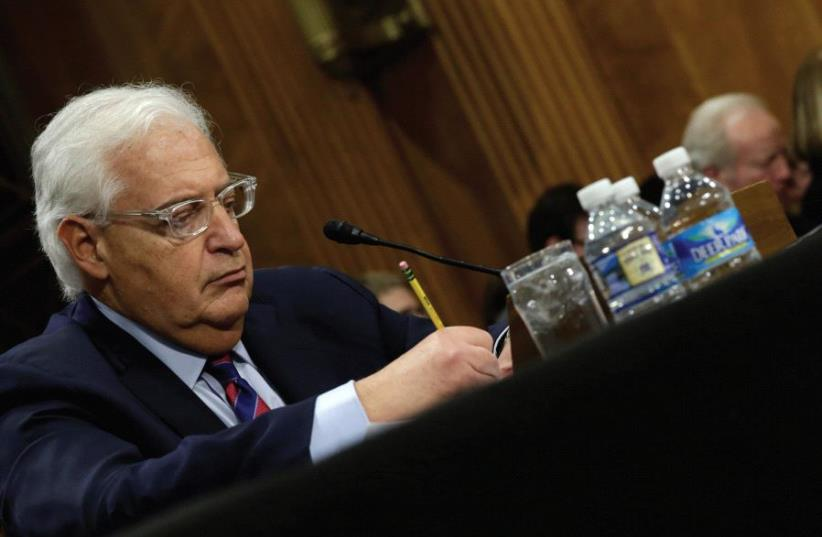 DAVID FRIEDMAN testifies before a Senate Foreign Relations Committee hearing on his nomination to be ambassador to Israel (photo credit: REUTERS)