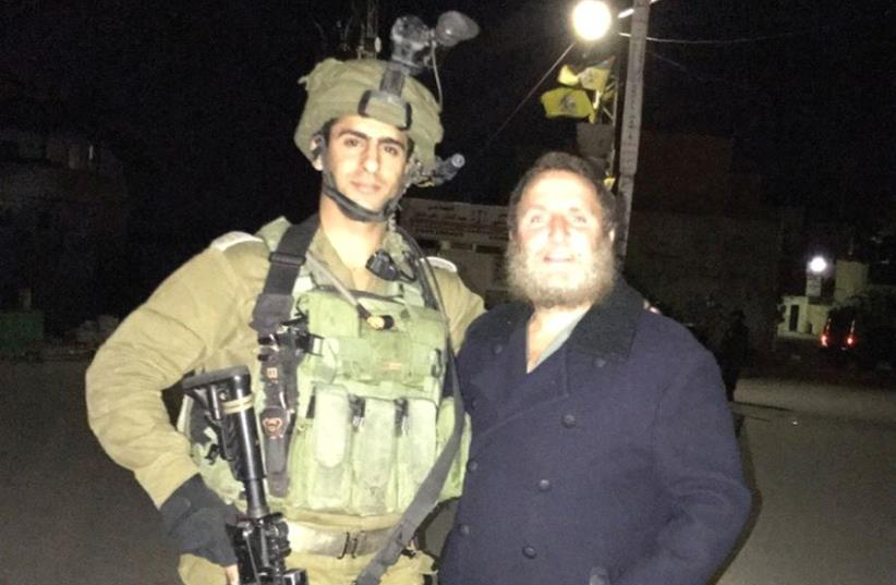 The author with an IDF soldier (photo credit: Courtesy)