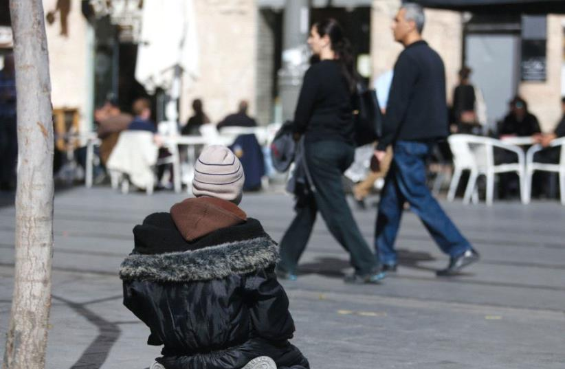 A homeless person in Jerusalem (photo credit: MARC ISRAEL SELLEM)
