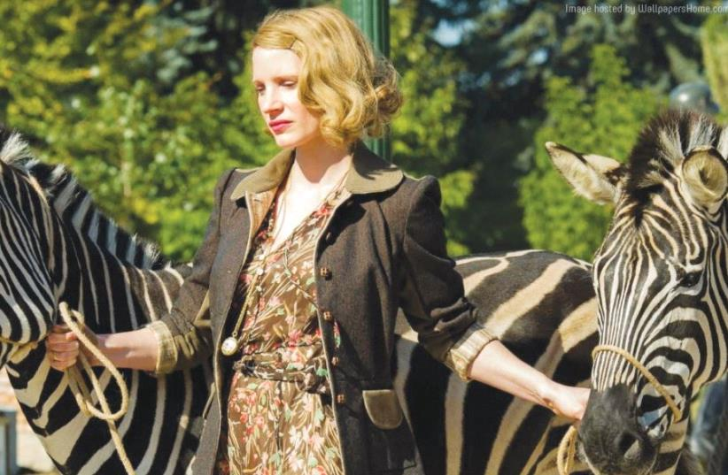 JESSICA CHASTAIN stars in the upcoming Holocaust drama 'The Zookeeper's Wife.' (photo credit: COLLIDER)