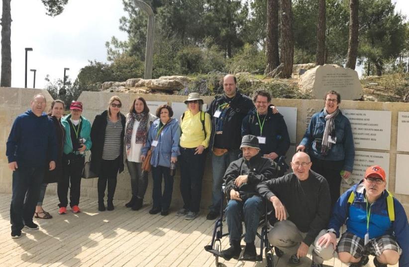 THE GROUP from British Columbia visits Yad Vashem. (photo credit: SHARI ROBINS)