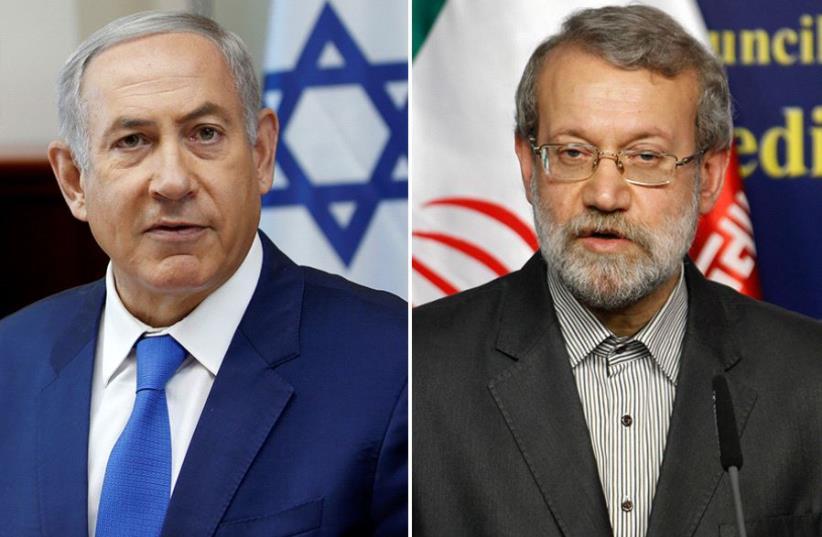 Netanyahu and Larijani   (photo credit: REUTERS)