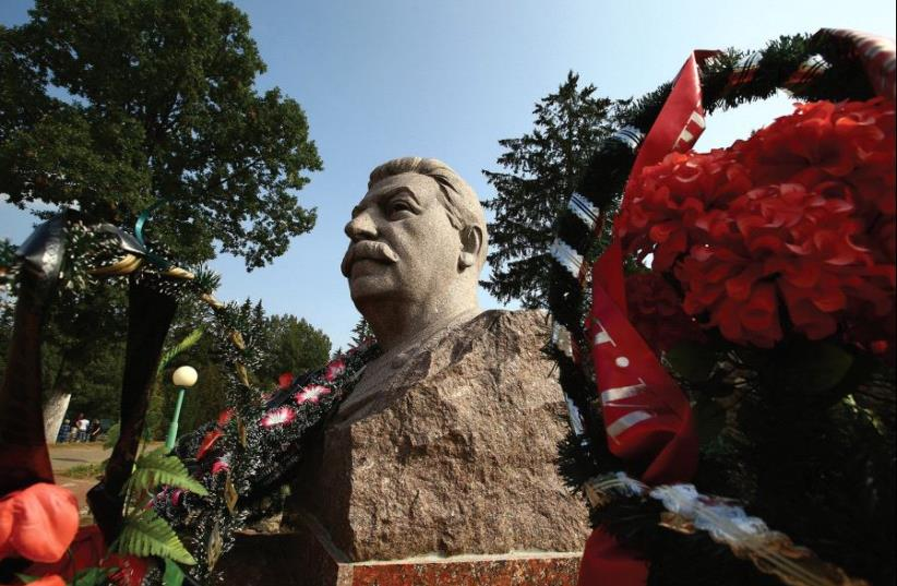 JOSEPH STALIN'S monument is pictured near a village in what is now Belarus. (photo credit: REUTERS)