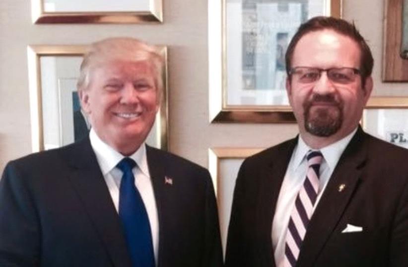 Sebastian Gorka and Donald Trump (photo credit: TWITTER/SEBASTIAN GORKA)