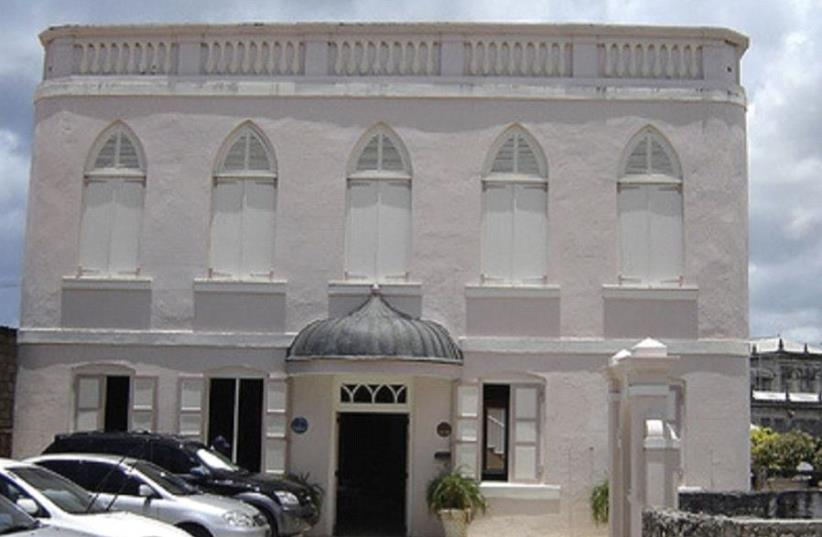 Synagouge in Barbados (photo credit: SETH J. FRANTZMAN)