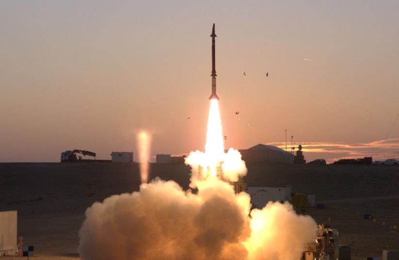 The David's Sling interceptor (photo credit: IDF SPOKESPERSON'S UNIT)