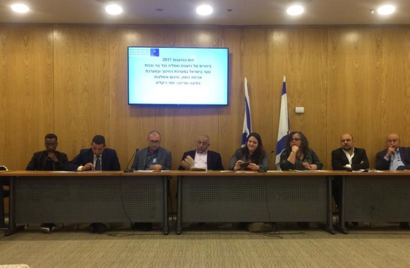 Knesset committee panel on racism (photo credit: UDI SHAHAM)