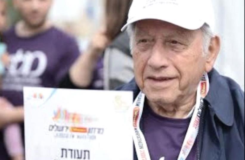 YEHEZKEL SAAD, a Melabev participant in the Jerusalem Marathon (photo credit: Courtesy)
