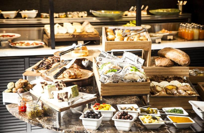 Breakfast foods at Cafe 65 (photo credit: AFIK GABAY PHOTOGRAPHY)