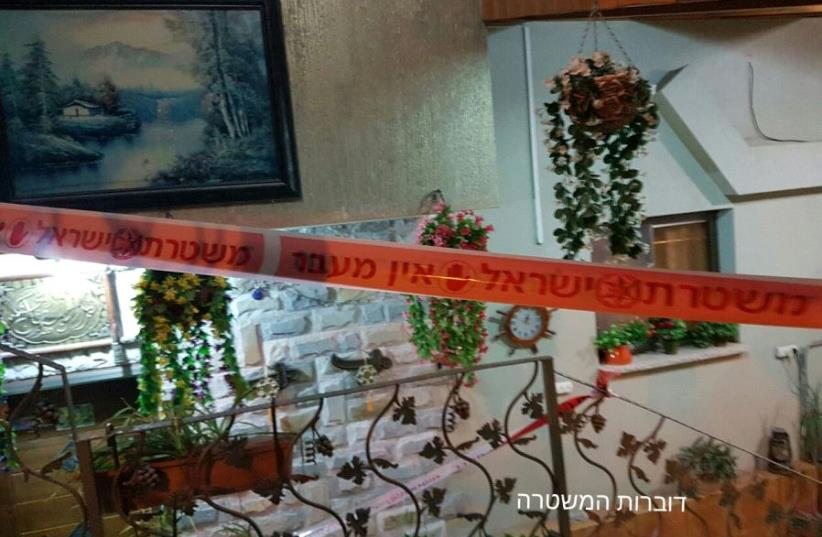 Picture of the crime scene in Nazareth, Saturday night. (photo credit: COURTESY ISRAEL POLICE)