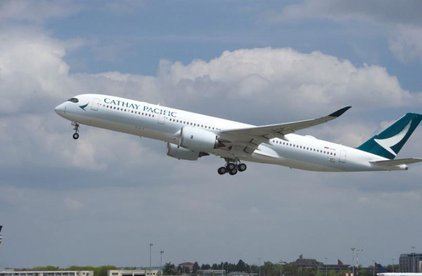 Cathay Pacific aeroplane (photo credit: CATHAY PACIFIC)