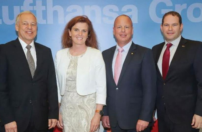 FROM LEFT: Axel Hilgers, Heike Birlenbach, Ofer Kish and Tal Muscal. (photo credit: Courtesy)