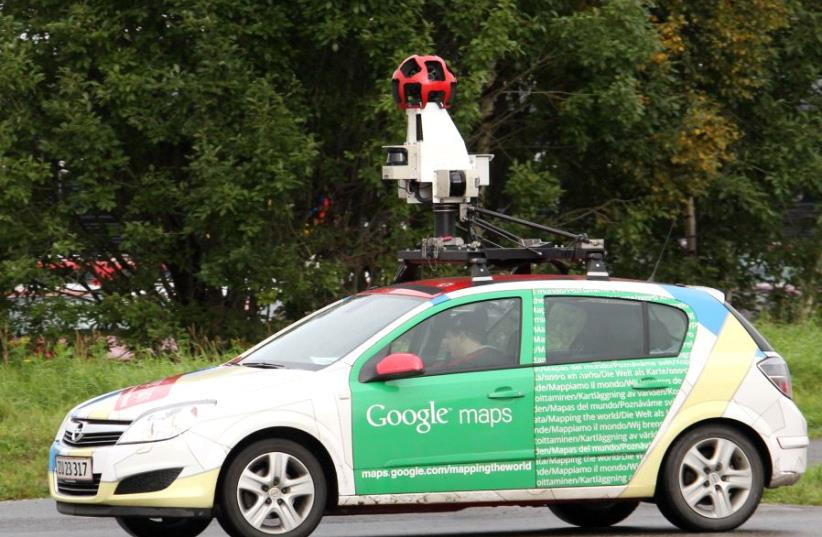A Google Street View car (photo credit: REUTERS)