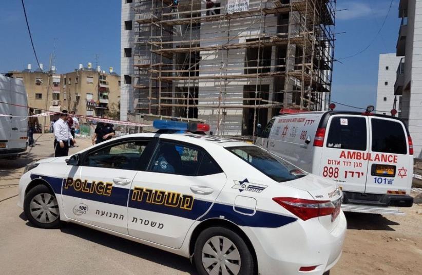 The scene of the crime in Tiberias  (photo credit: MDA)