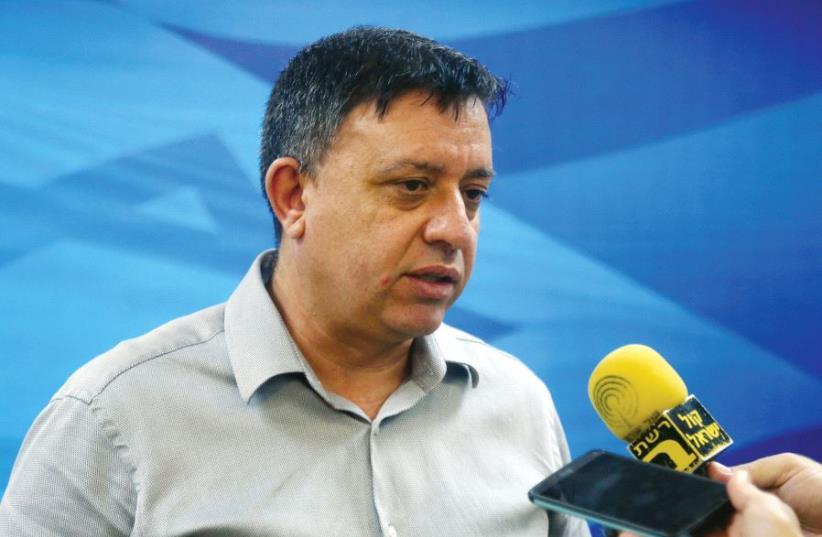 Avi Gabbay as enviromental protection minister (photo credit: MARC ISRAEL SELLEM)
