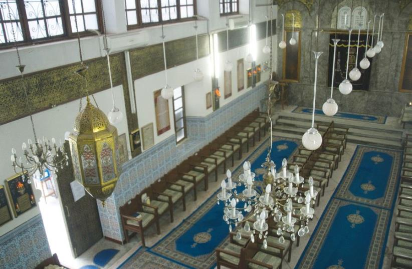 Sla'at al Azama Synagogue in the Mellah (Jewish quarter) in Marrakech (photo credit: SARAH LEVI)