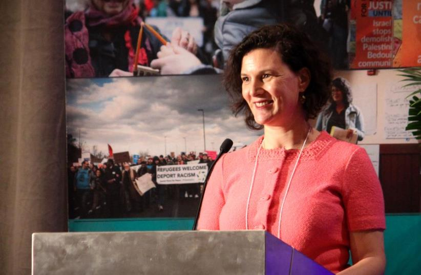 Executive director of JVP Rebecca Vilkomerson. (photo credit: MARTYN BONAVENTURA)