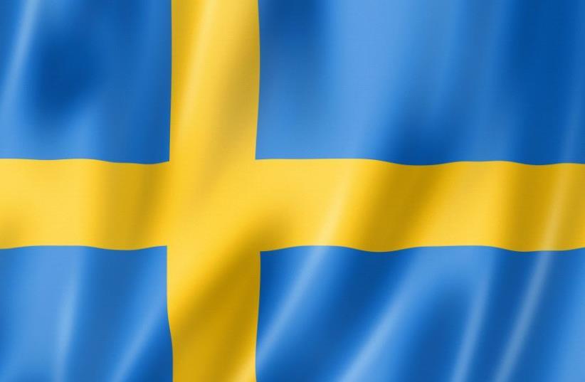 Sweden flag (photo credit: INGIMAGE)