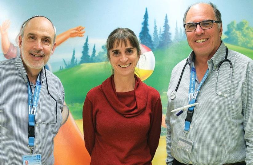 Prof. Shaya Wexler, Prof. Rebecca Brooks and Dr. David Shoseyov (photo credit: Courtesy)