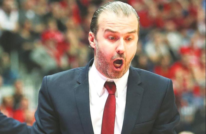 Hapoel Jerusalem coach Simone Pianigiani (photo credit: DANNY MARON)