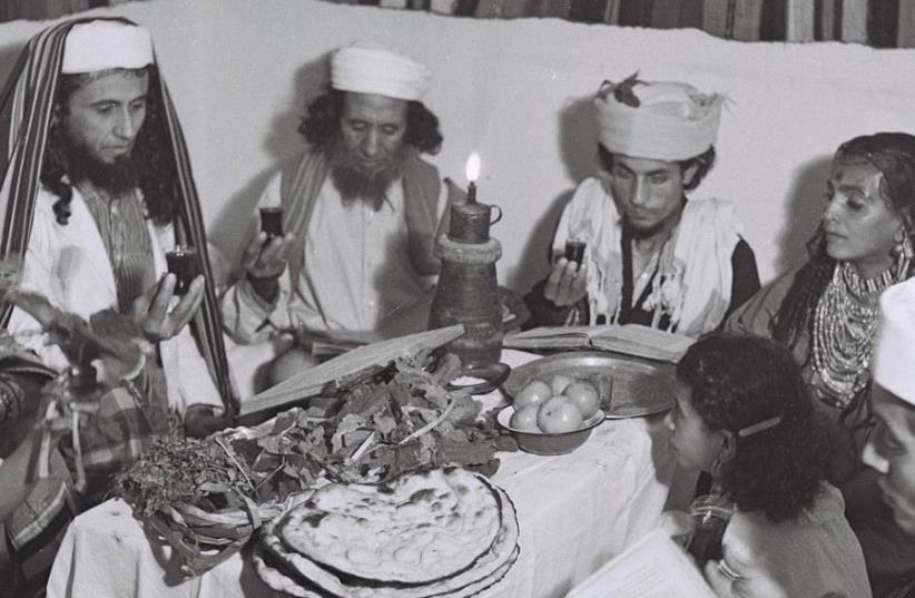A Yemenite Habbani family celebrates Passover in Tel Aviv. (photo credit: ZOLTAN KLUGER/WIKIMEDIA COMMONS)