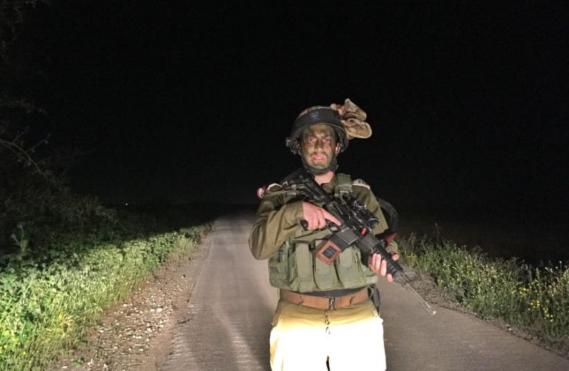 Company Commander Gilad Benafshi on the border with the Gaza Strip (photo credit: ANNA AHRONHEIM)