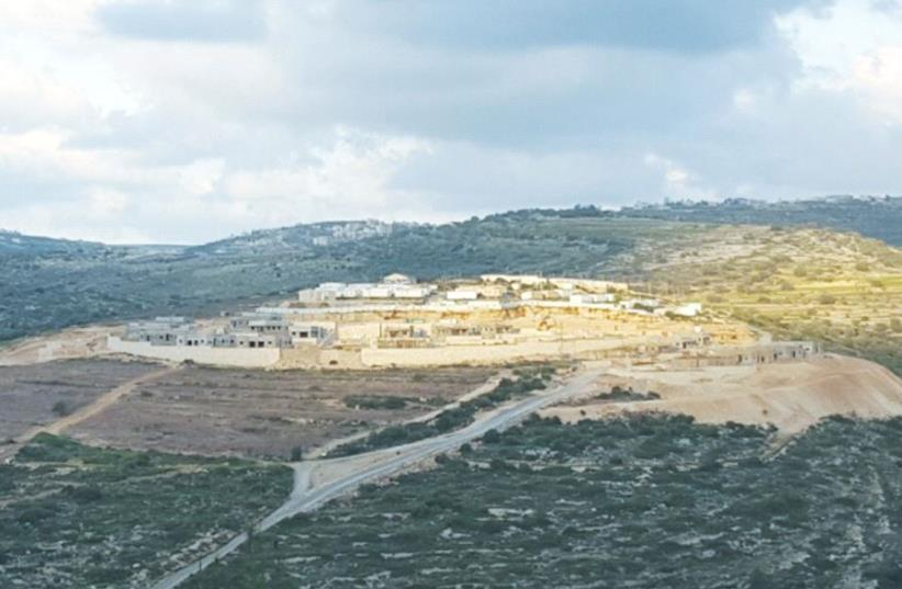 KEREM REIM is shown in this aerial view (photo credit: COURTESY PEACE NOW)