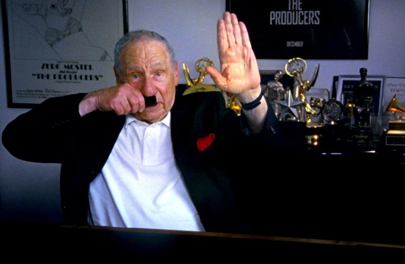 Mel Brooks in The Last Laugh. (photo credit: FERNE PEARLSTEIN)