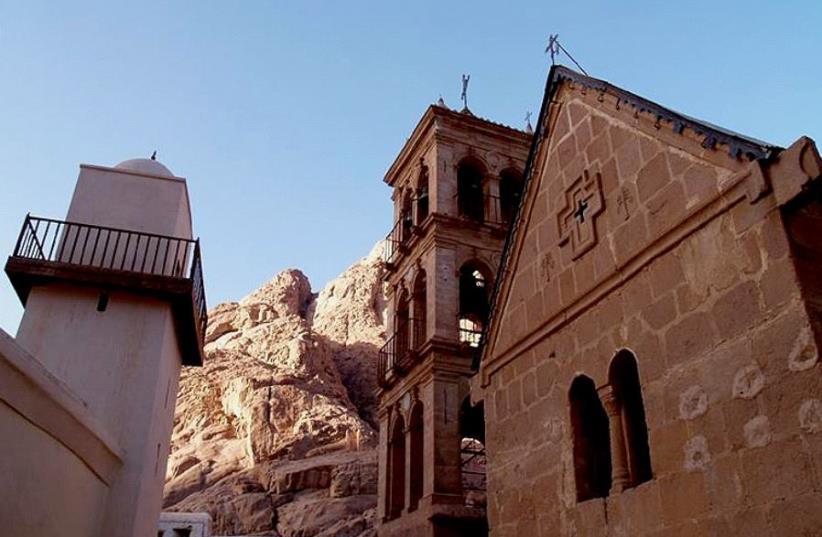 Saint Catherine's Monastery at the Sinai peninsula, Egypt (photo credit: MOQUETTE AT ENGLISH WIKIPEDIA)
