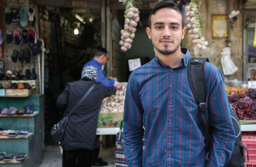 Yahya Mahamed in Jerusalem's Mahaneh Yehuda market (photo credit: MARC ISRAEL SELLEM)